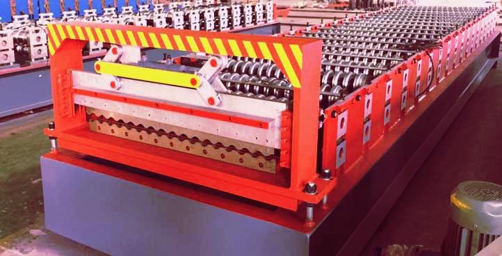 corrugated steel panel