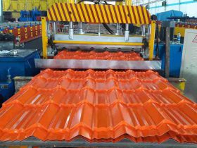 glazed roof tile making machine