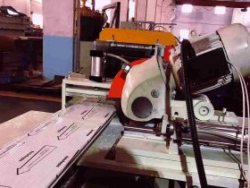 Garage door panel roll forming machines