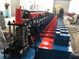 Solar panel mounting bracket roll forming machine