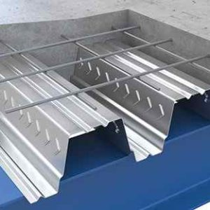 Galvanized steel floor deck machine
