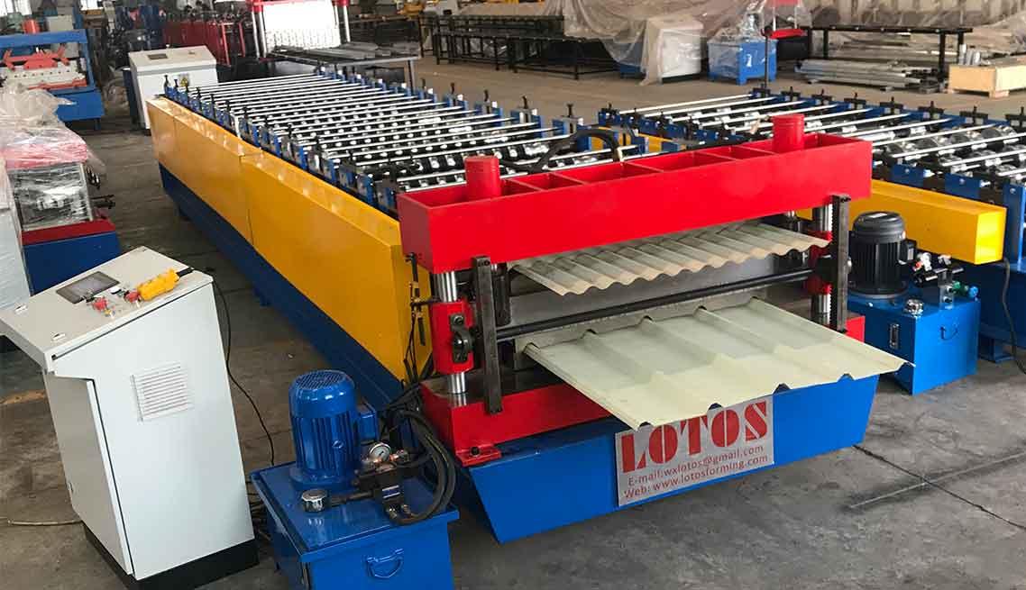 Corrugated Aluzinc Iron Roof Sheet Roll Forming Machine