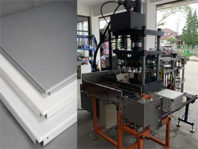 metal ceiling panel Hydrualic press machine
