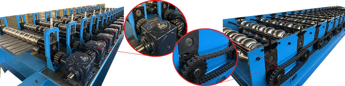 Gear-Box-Transmission-roof-tile-machine