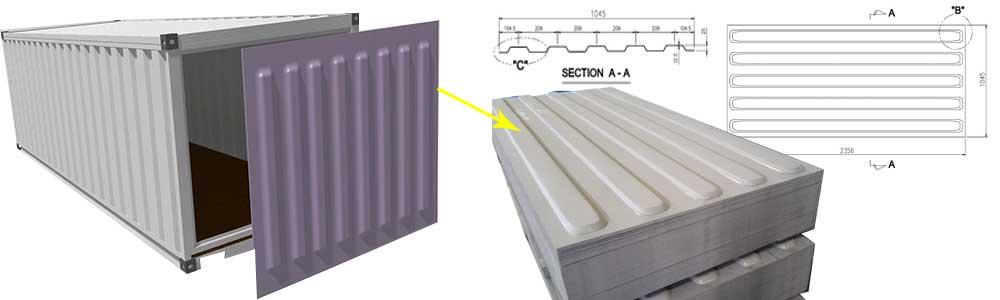 shipping container roof repair panels