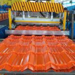 glazed roof tile making machine